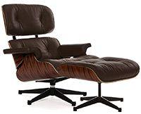 Lounge Chair & Ottoman коричневое /палисандр