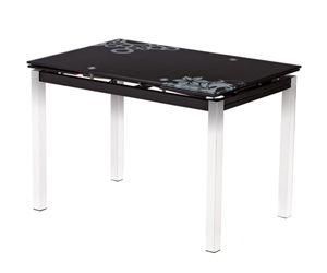 Стол обеденный Гамбург - 110/170 (черный)