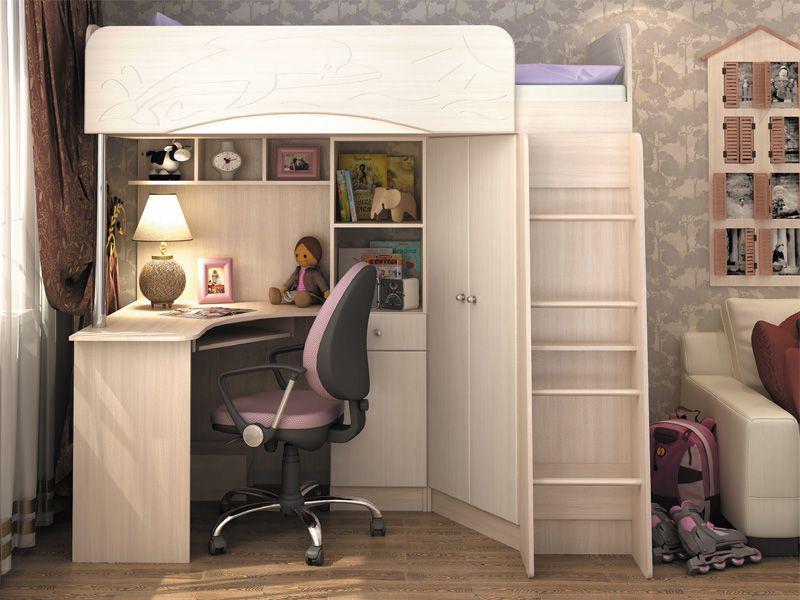 Детская корпусная мебель Бэмби-4 (ясень шимо светлый/сандал белый)