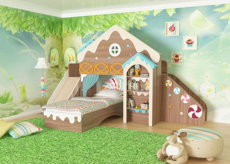 """Набор детской комнаты """"Пряничный домик"""" (продаётся помодульно)"""