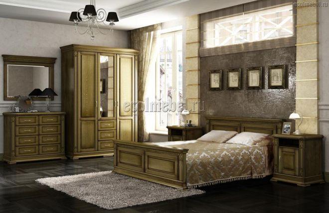 Спальня Верди дуб (массив дуба)