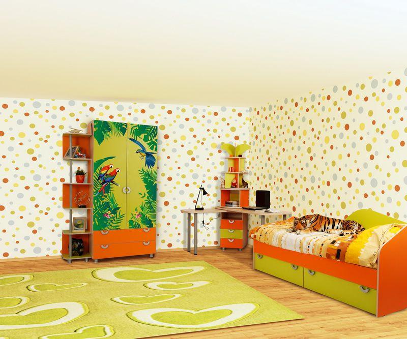 """Набор для детской """"Маугли"""" (оранжевый) (продаётся помодульно)"""