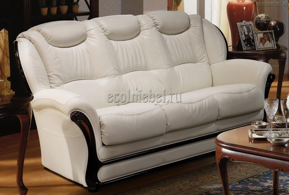 Трёхместный диван Мартель в коже
