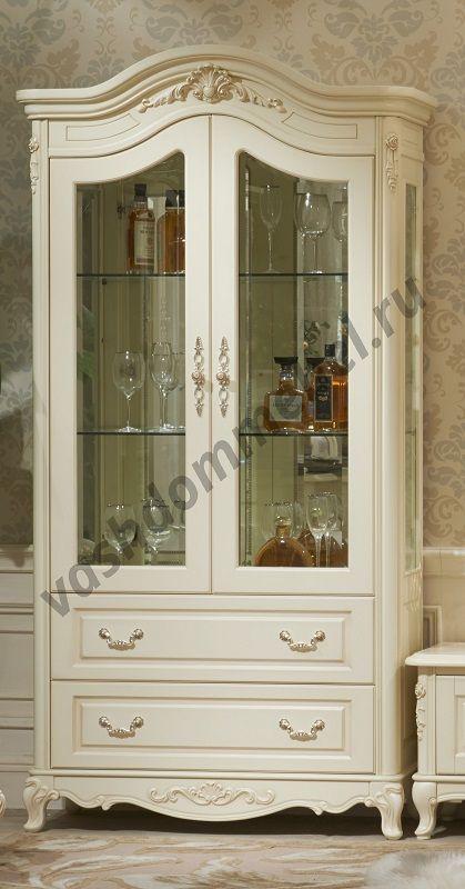 """Витрина MK-1841-IV """"Милано 2-D"""" 1-дверная, 110х46х215 см"""