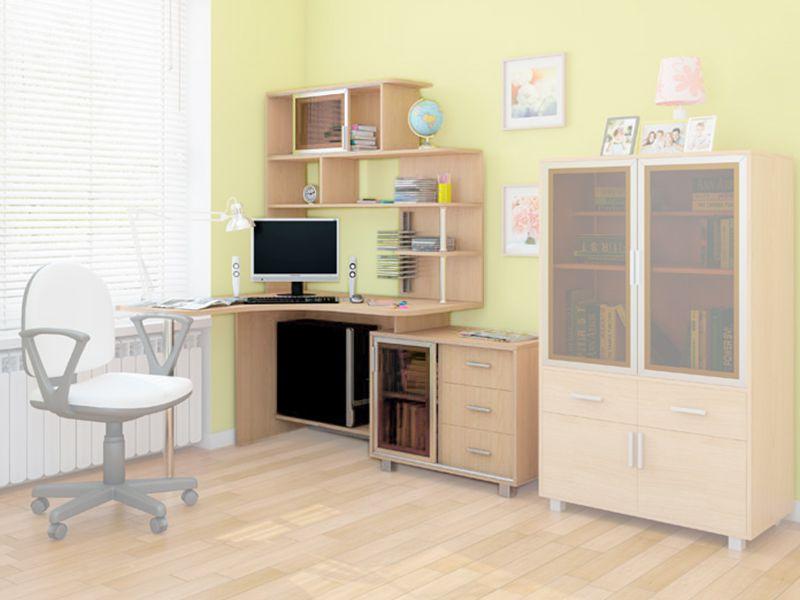 Стол компьютерный NEXT левый/правый (дуб млечный)