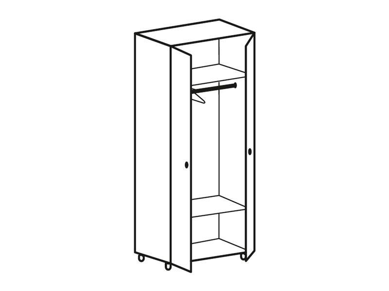 Шкаф 2-х створчатый платяной Роман ШК-712