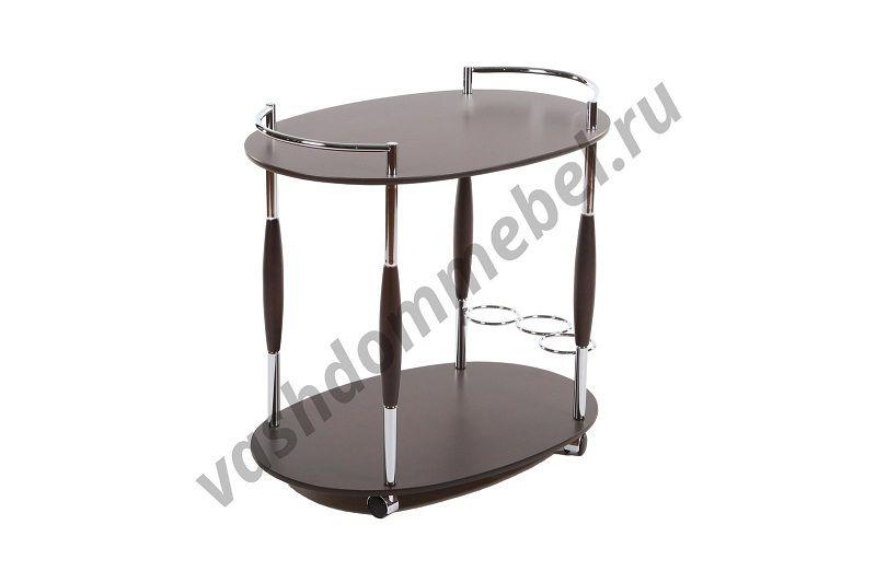 Сервировочный столик MK-2314, МДФ+металл, темн. орех