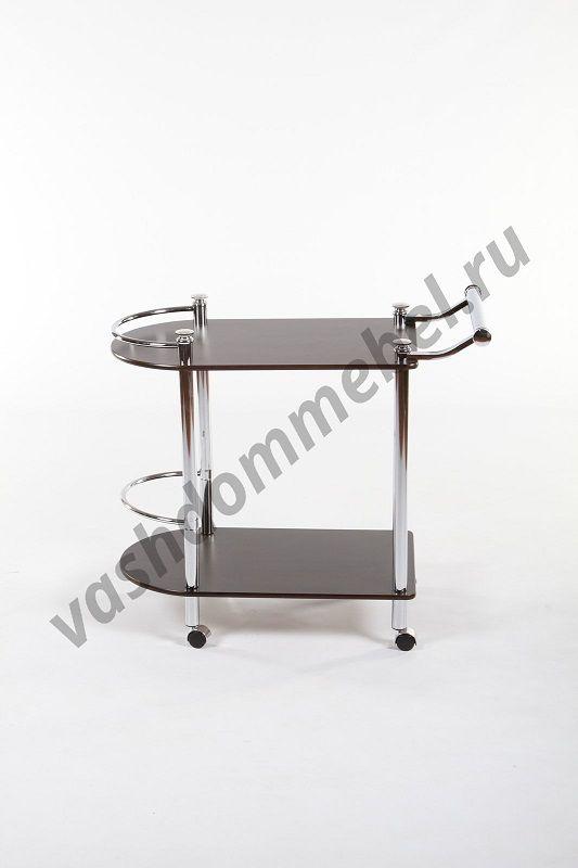 Сервировочный столик MK-2315, МДФ+металл, темн. орех