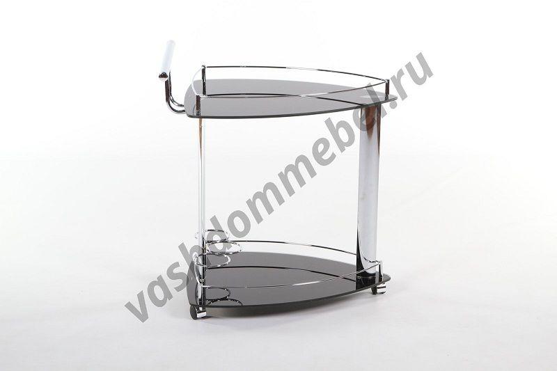 Сервировочный столик VT-S-07, металл, стекло темное