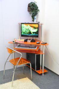 Компьютерные столы:Компьютерные столы из стекла:Компьютерный стол стеклянный G003/G6