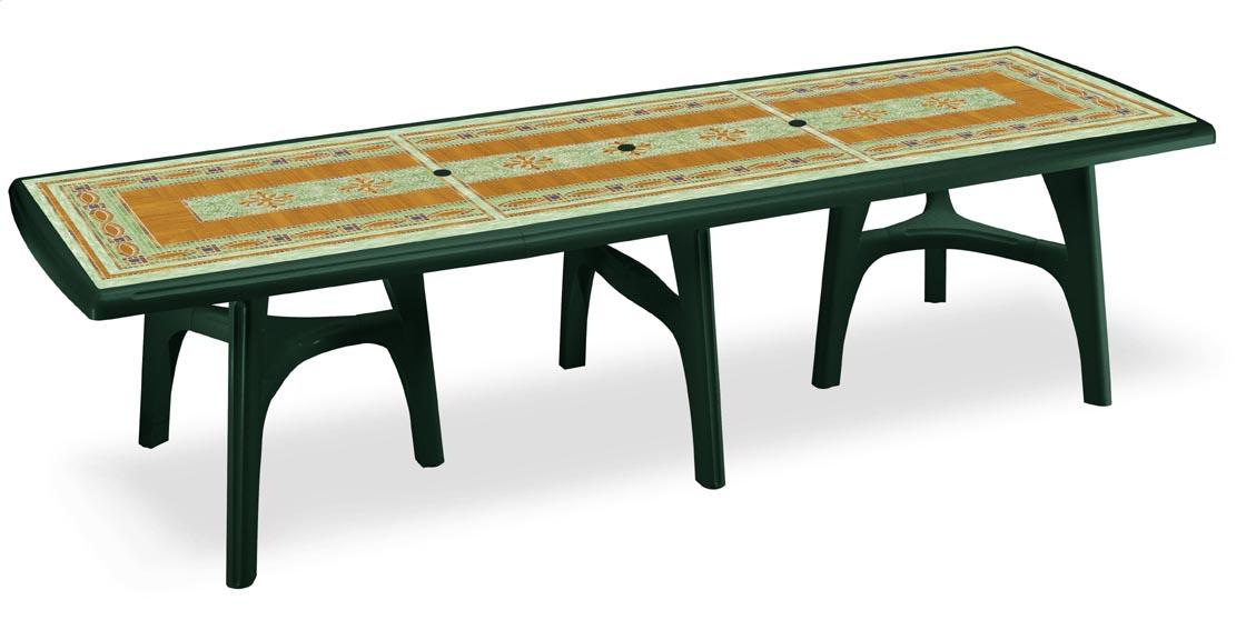 Стол PRESIDENT 3000 зеленый с мозаикой MOSAIC DECORATION