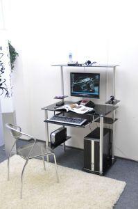 Компьютерные столы:Компьютерные столы из стекла:Компьютерный стол стеклянный D94G3