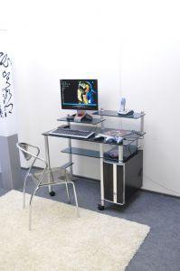 Компьютерные столы:Компьютерные столы из стекла:Компьютерный стол стеклянный G007/G6 (оранжевое стекло)