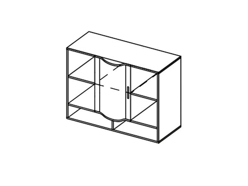 Шкаф навесной-1 Мозаика, ШН-1 (дуб белфорд)