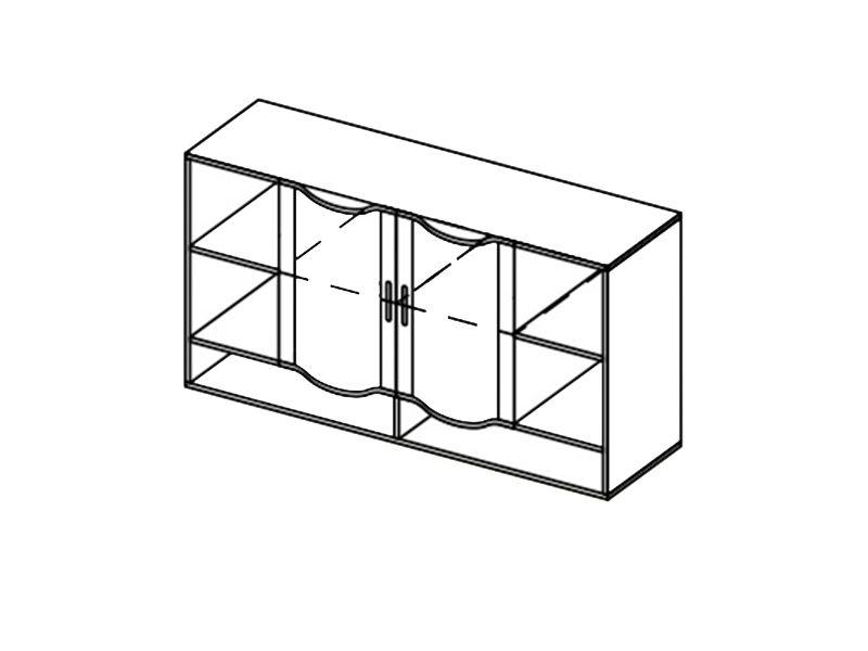 Шкаф навесной-1,5 Мозаика, ШН-1,5 (дуб белфорд)