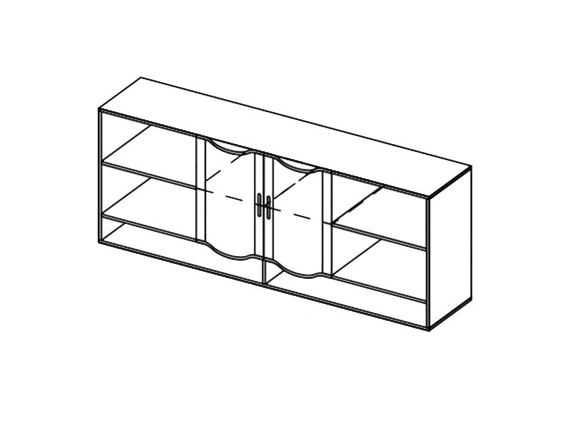 Шкаф навесной-2 Мозаика, ШН-2 (дуб белфорд)