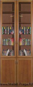 Шкаф для книг  КШ-2/4, 2 секции, 4 двери