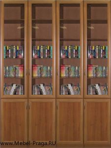 Библиотека КШ-4/8, 4 секции, 8 дверей