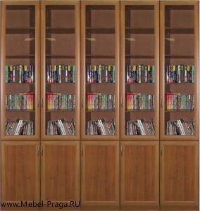 Шкаф для книг КШ-5/10, 5 секции, 10 дверей