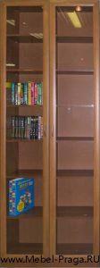 Книжный шкаф КШ-2/2, 2 секции, 2 двери