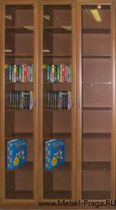 Библиотека для книг КШ-3/3, 3 секции, 3 двери