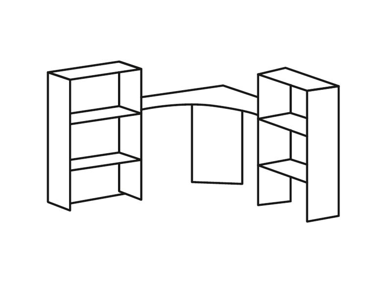 Надставка на стол Роман ПЛ-702