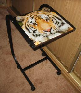 """Компьютерные столы:Столы для ноутбука:Столик для ноутбука Асмис СК-14 """"Амурский тигр"""""""