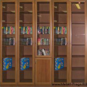 Шкаф книжный кш 5/5, 5 секции, дверей.