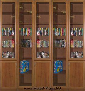 Книжный шкаф КШ-5/8, 5 секции, 8 дверей