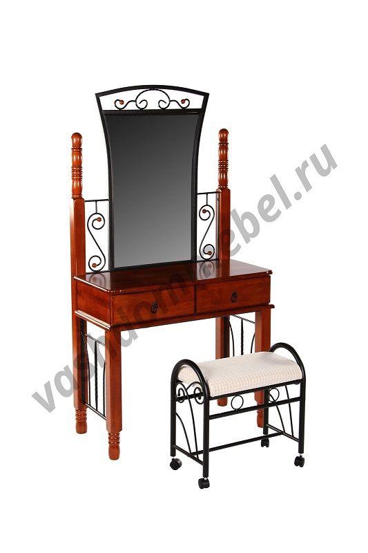 Туалетный столик с банкеткой MK-2132-RO