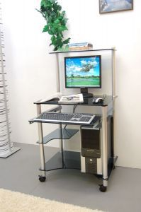 Компьютерные столы:Компьютерные столы из стекла:Компьютерный стол стеклянный G0018/G4