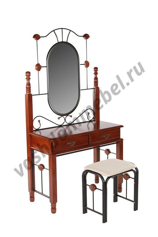 Туалетный столик с банкеткой MK-1930-RO (темная вишня)