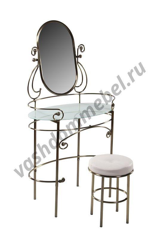 Туалетный столик с пуфиком MK-2201-AB (античная медь)