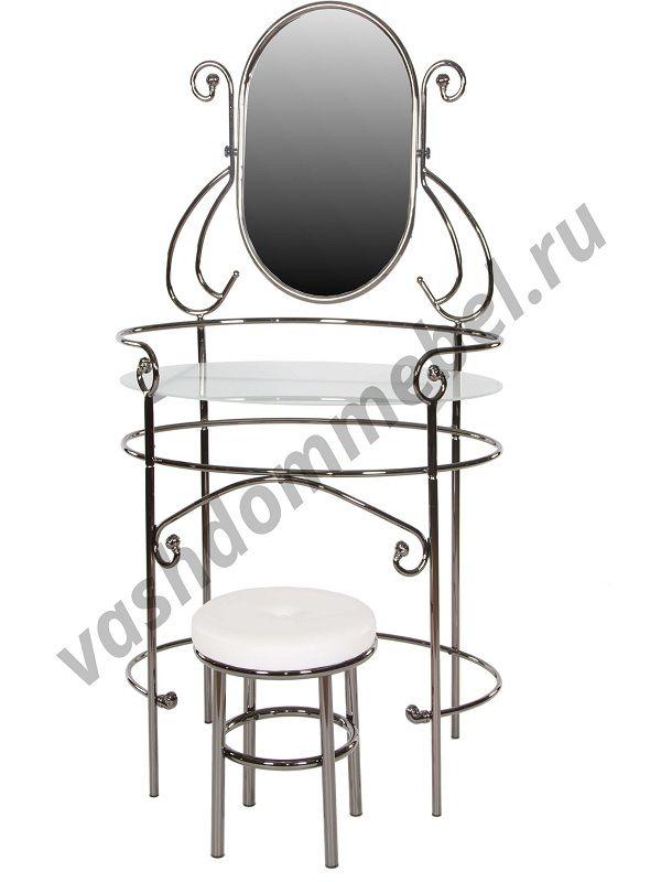 Туалетный столик с пуфиком MK-2218-BN (черный никель)