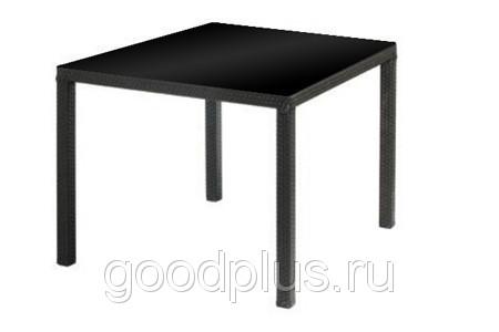 Стол обеденный Марсель мебель из искусственного ротанга 90x90x76
