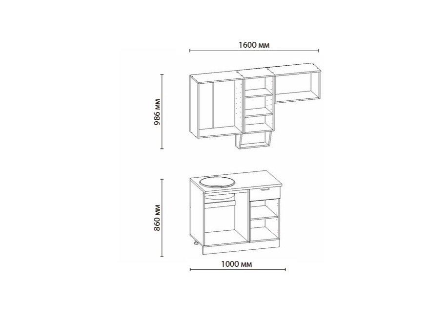 Кухня САКУРА-1, правая - левая