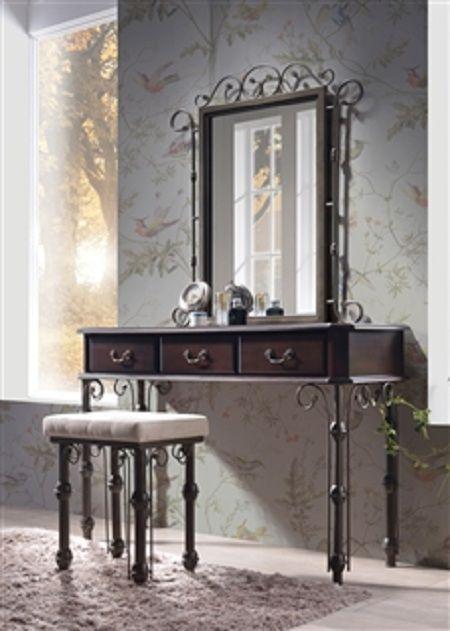 Туалетный стол Dynasty, темный орех