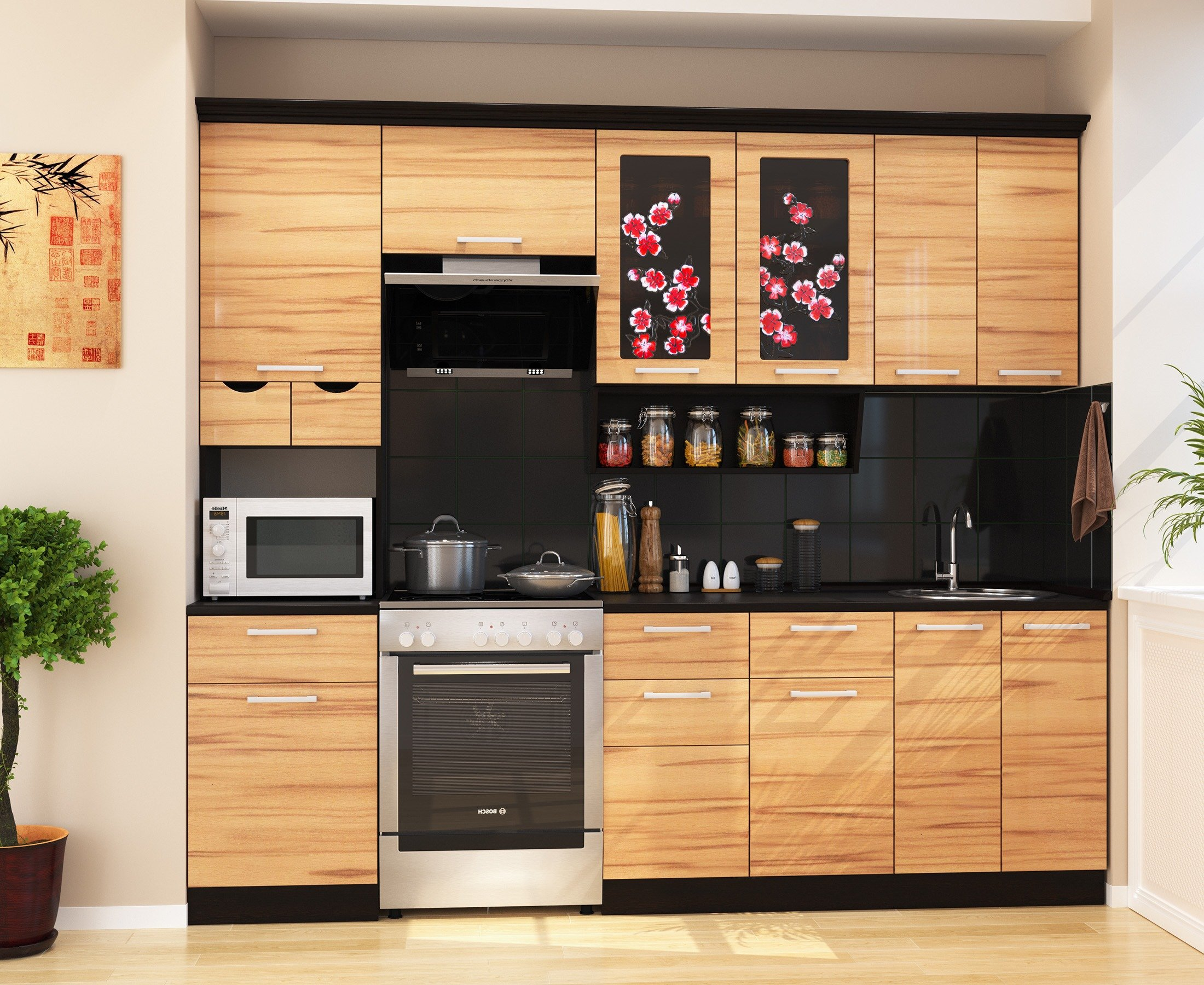 Кухня САКУРА-4, правая - левая