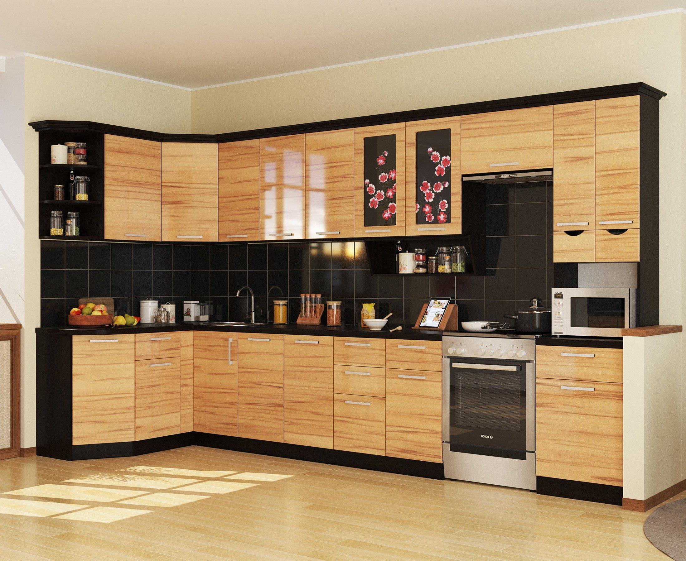 Кухня САКУРА-4 УГЛОВАЯ, правая - левая