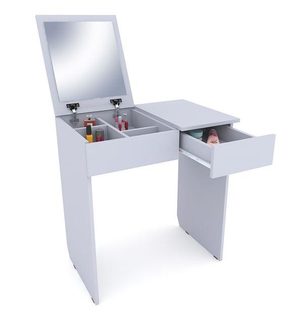 Столик туалетный с зеркалом Риано-1 белый