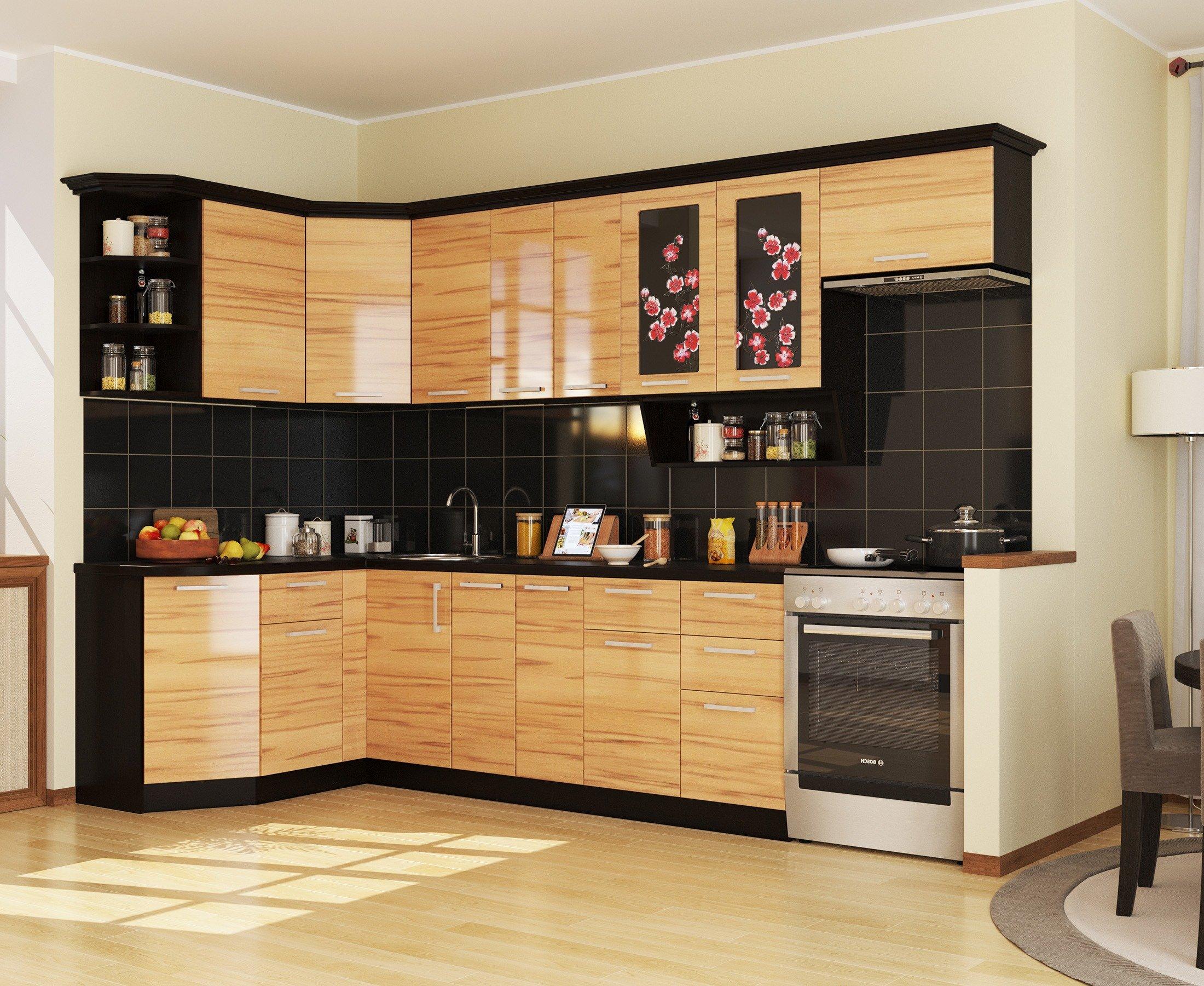 Кухня САКУРА-2 УГЛОВАЯ, правая - левая