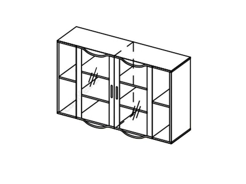 Шкаф навесной-2 Глория, ШН-2