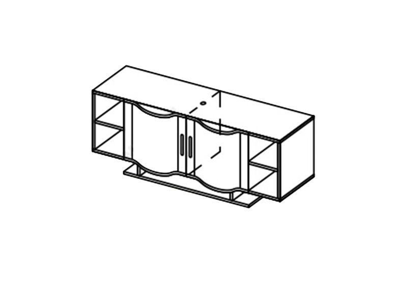 Шкаф навесной-3 Глория, ШН-3