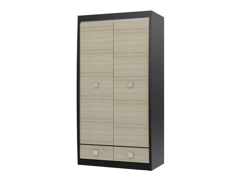 Шкаф 2-х дверный с 2-мя ящиками Ксено (Корсика) СТЛ.078.08 (дуб феррара/ясень глянец)