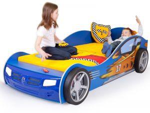 Детская кровать-машина Champion blue