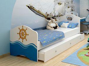 Детская выдвижная кровать Ocean-2