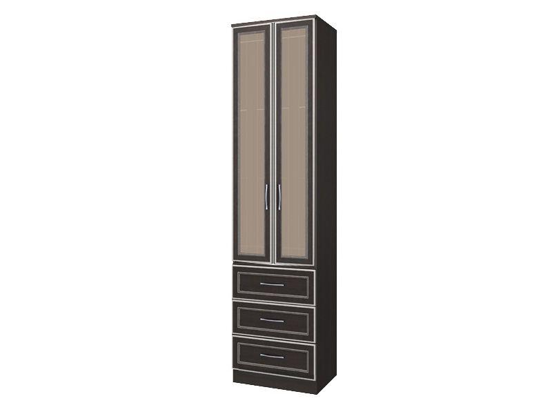 Шкаф с 3-мя ящиками со стеклом София СТЛ.098.04+СТЛ.098.27 (Chesterfield Oak)